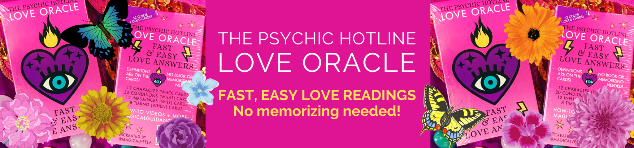 The Psychic Hotline Love Oracle Deck | magicalguidance.com